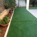 שילוב דשא סינטטי בגינה